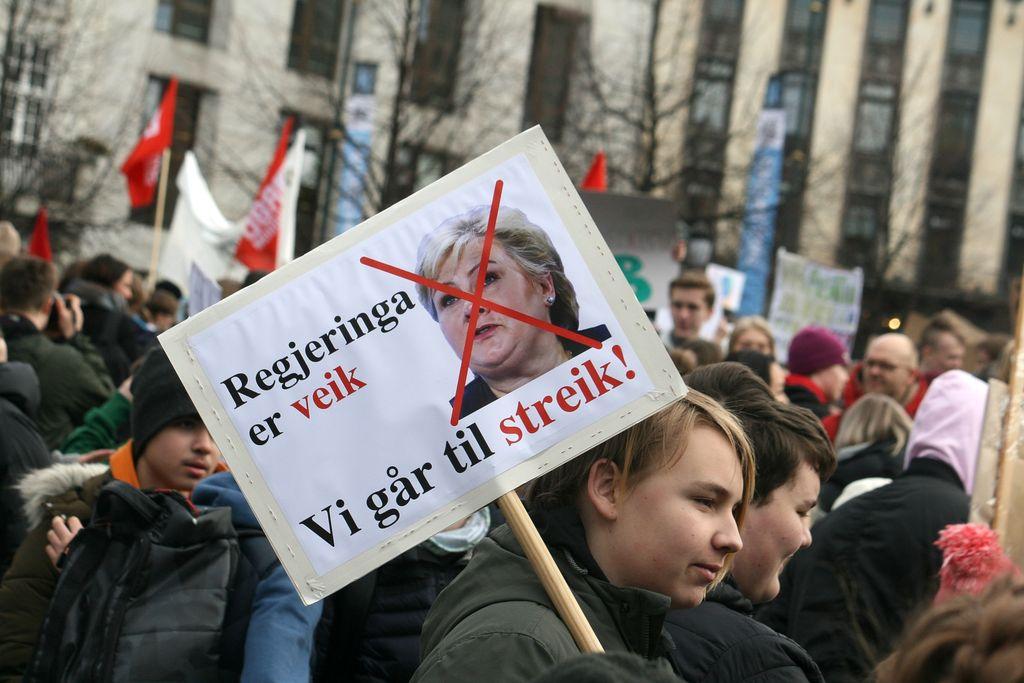 Rundt 10.000 elever streiker 31 steder i Norge fredag
